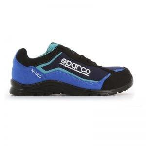 lichtgewicht werkschoen - Sparco Nitro Blauw Zijkant