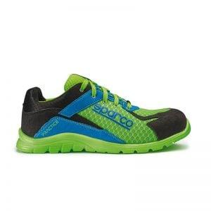 lichtgewicht werkschoen - Sparco Practice Groen Blauw Zwart