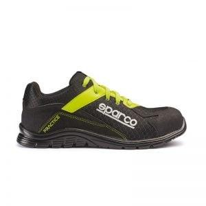 lichtgewicht werkschoen - Sparco Zwart Geel Groen