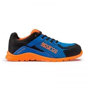 lichtgewicht werkschoen - Sparco Practice Blauw Oranje